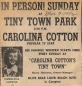 Carolina Cotton Ad 1952