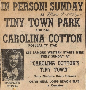 Carolina Cotton Ad 1952