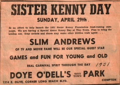 Sister Kenny Day April 1951