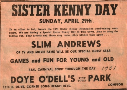 Sister Kenny Day April 1951