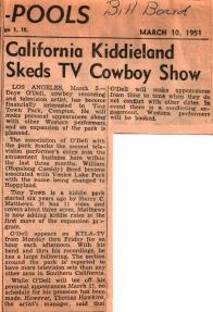 From Billboard - Doye O'Dell financially interested in TT 1951