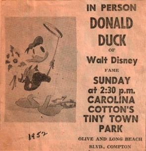 Donald Duck in Person at TT along with Carolina Cotton 1952