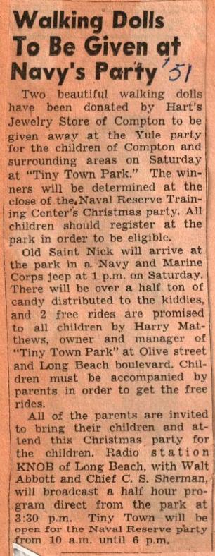 Walking Dolls-Navy Party 1951