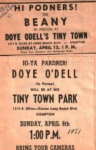See Beany & Doye O'Dell at TT 1951