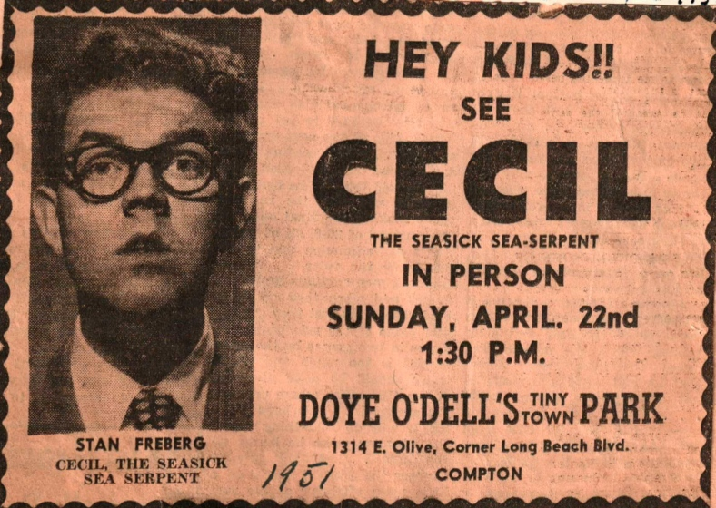 Cecil (Stan Freberg) & The Seasick Sea Serpent 1951