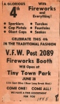 Fireworks at TT July 4th, 1948