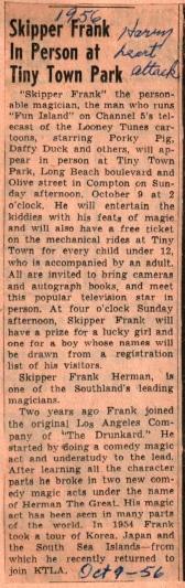 Skipper Frank at TT 1956