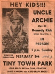 Uncle Archie, Star of Komedy Klub at TT 1953