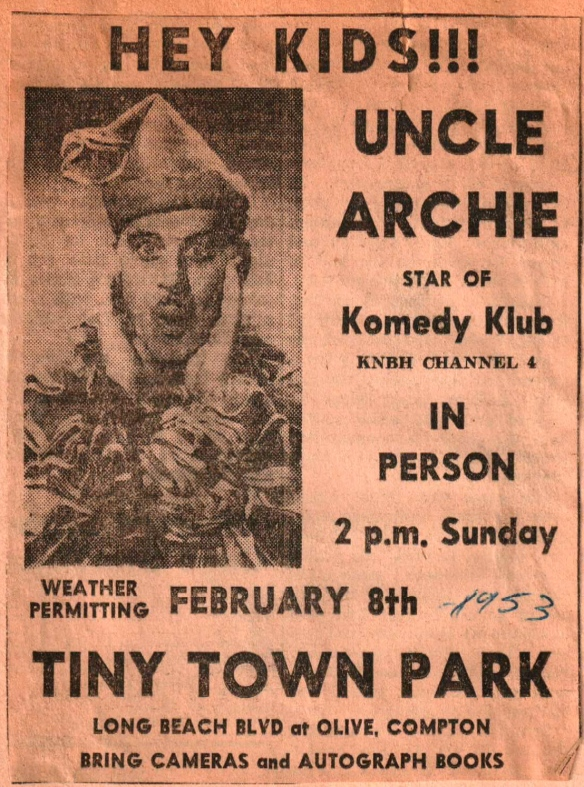 Uncle Archie, Star of Komedy Klub at TT 1953
