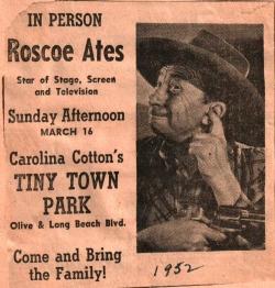 Roscoe Ates & Carolina Cotten at TT 1952